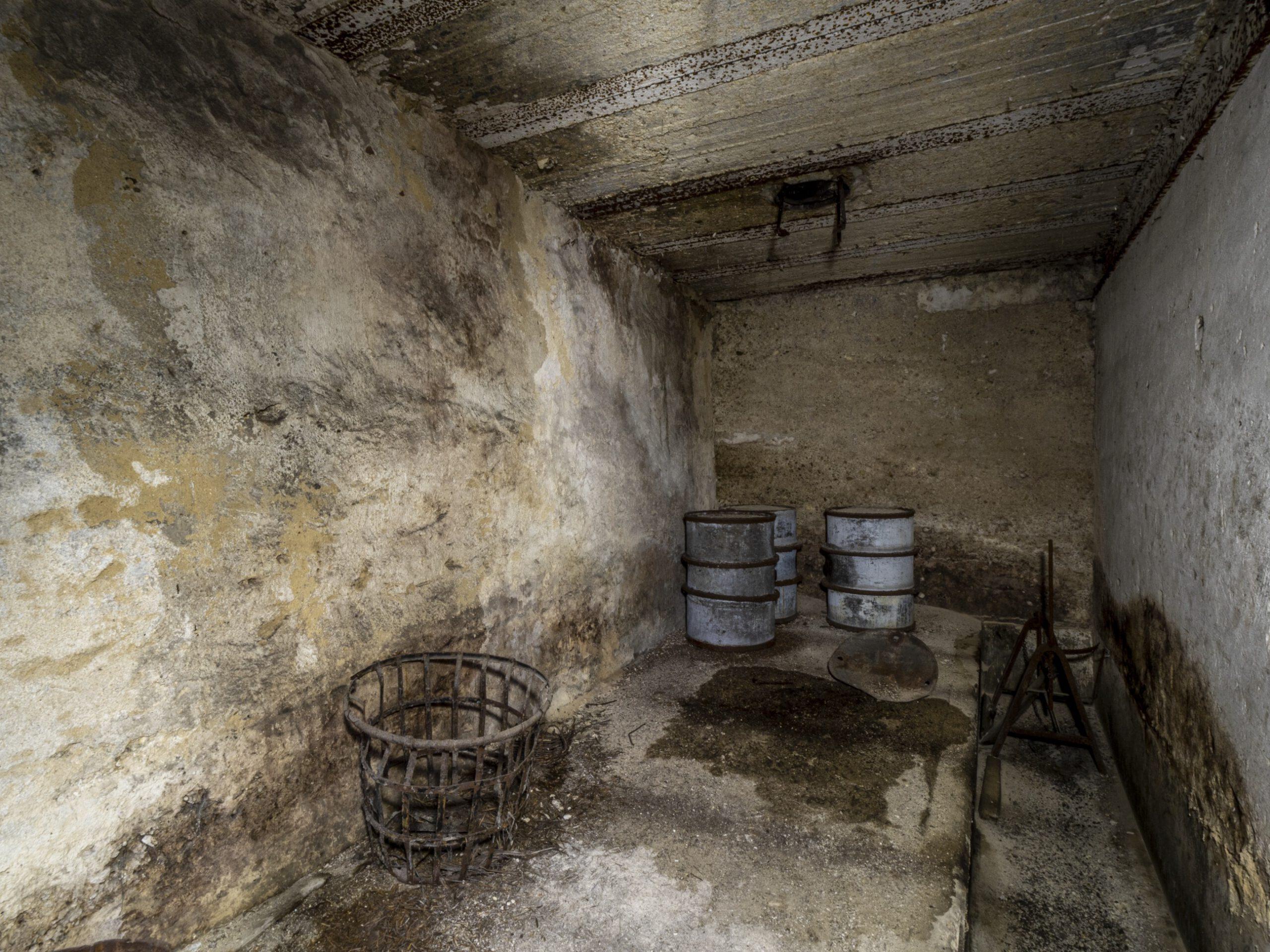 Öl Lager der Grube Velsen